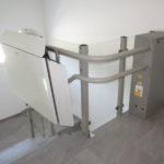 Treppenlifte im Acrylglas-Auskleidung im Innenbereich